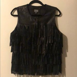 Fringe Leather Vest by Neumann Marcus